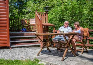 couple lodge relax holiday summer happy fun